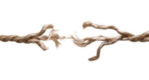 Frayed rope isolated